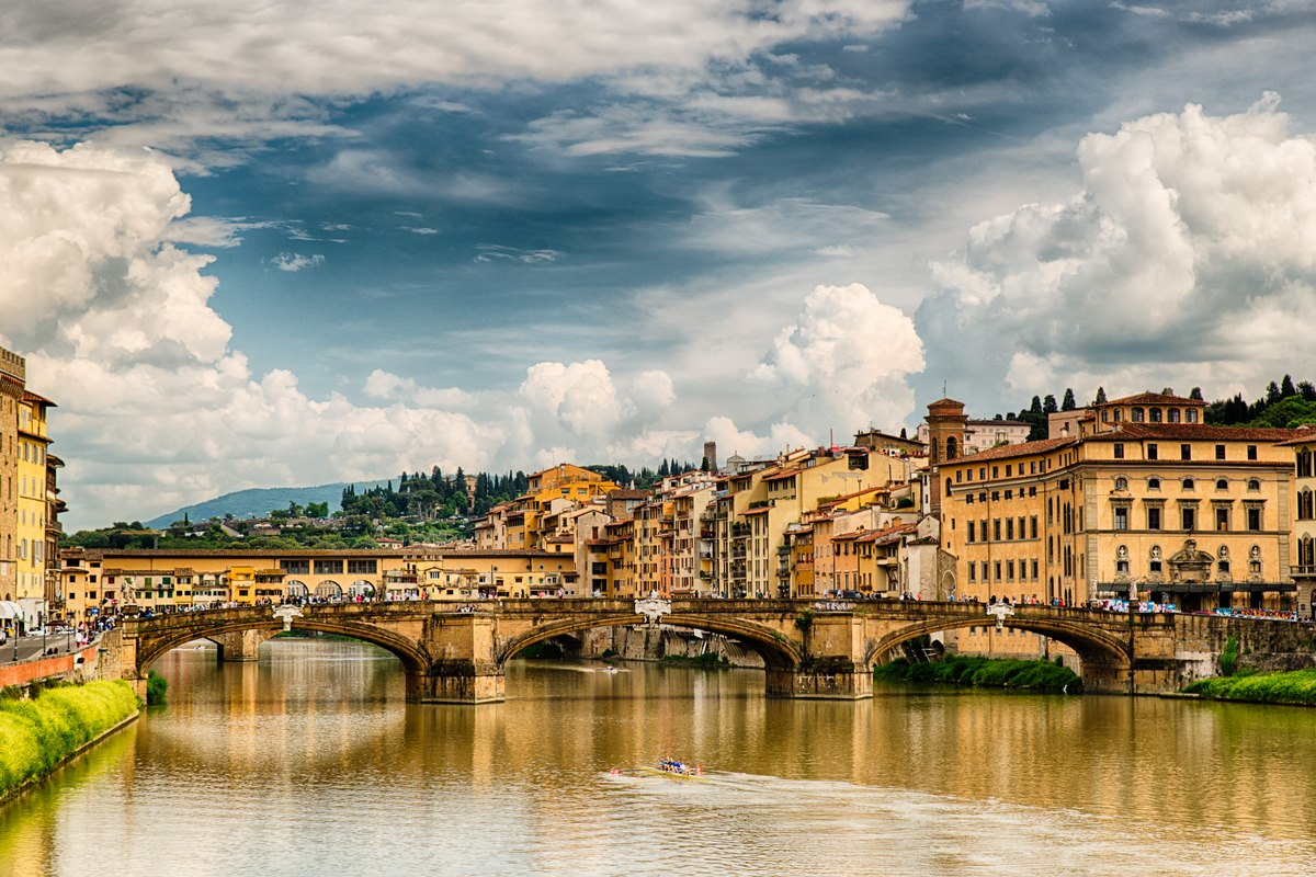 The Holy Trinity bridge, Florence
