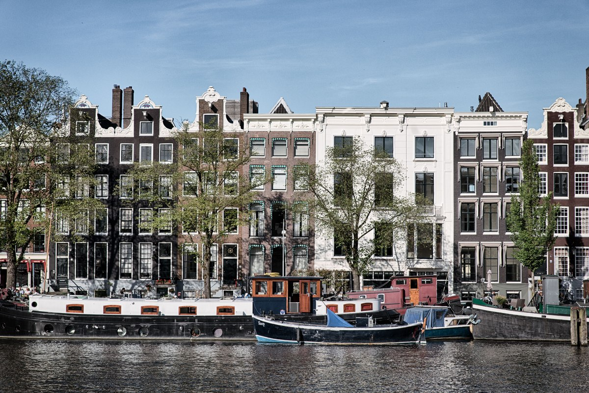 Amsterdam houses and boats