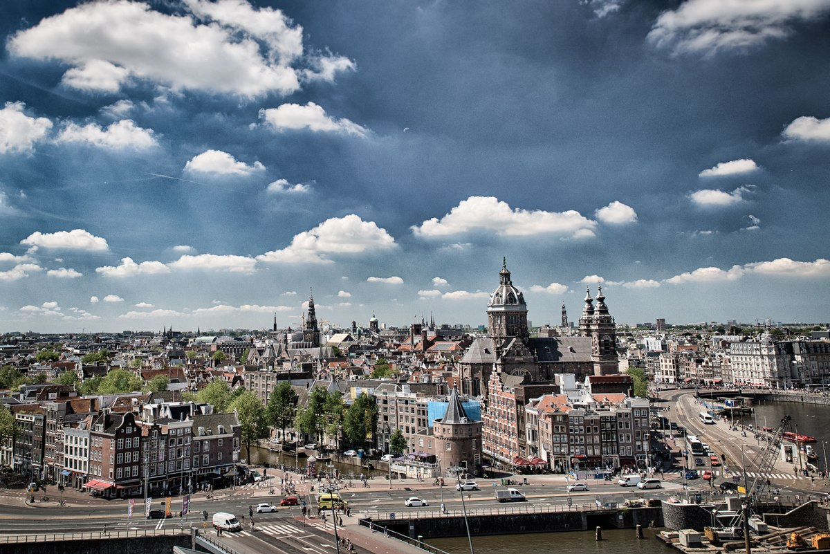 Amsterdam panorama from above