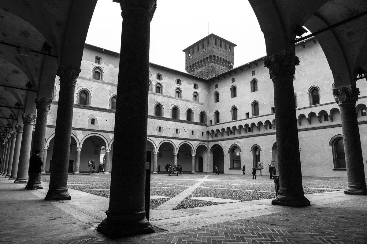 Sforza Castle inner yard, Milan