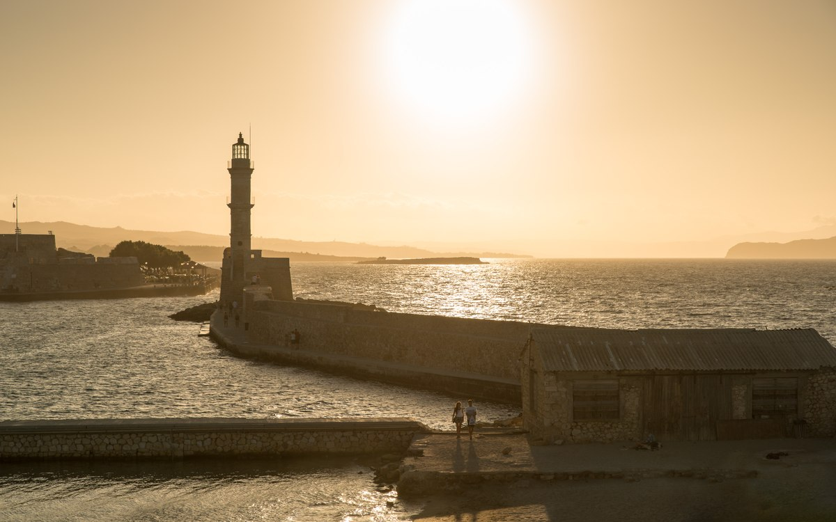 Sunset, Lighthouse in Chania