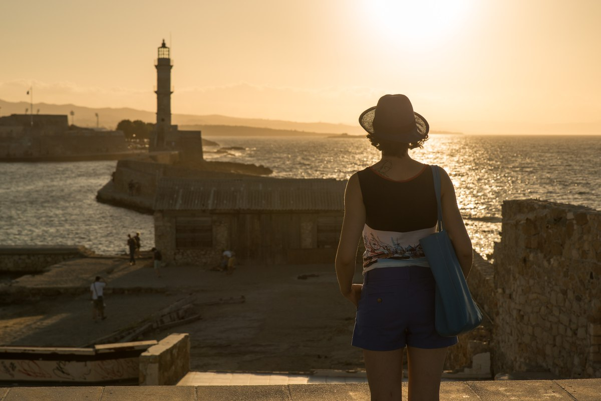 Watching the Chania sunset