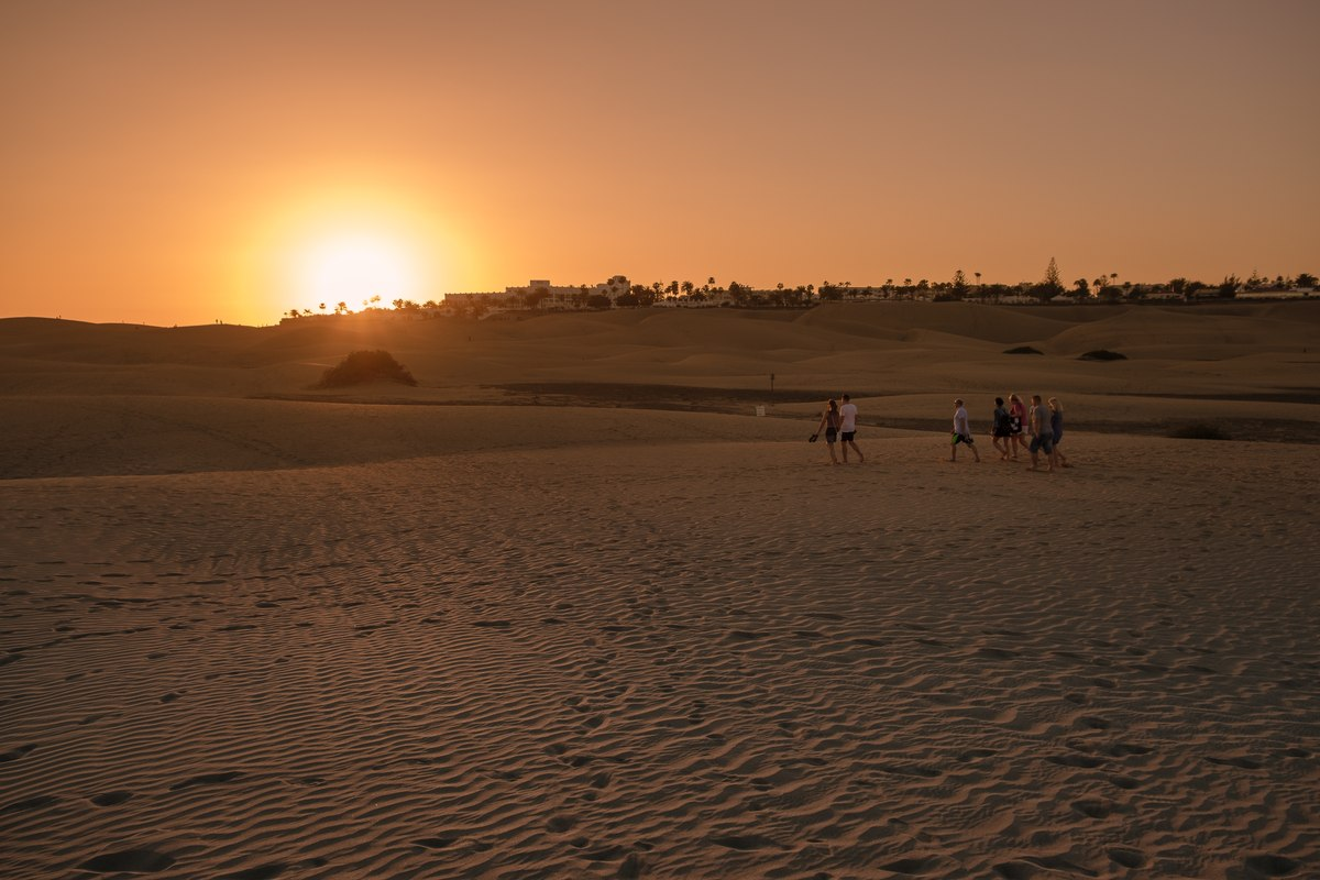 Sunset in Maspalomas