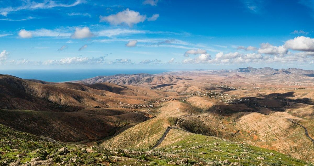 Fuerteventura hills panorama