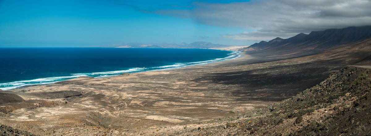Fuerteventura couds and ocean