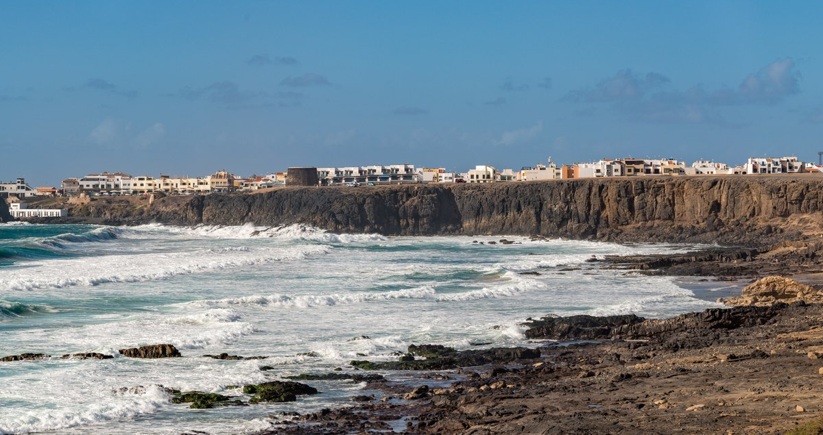 Village on coast in Fuerteventura