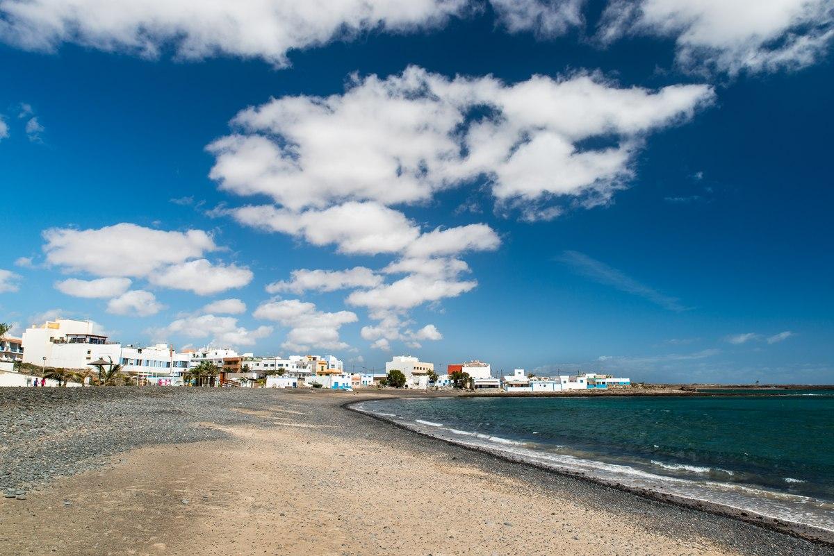 Beach and town in Fuerteventura