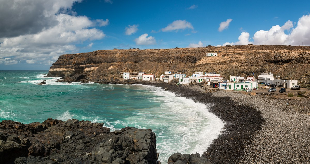 Village and rocks in Fuerteventura