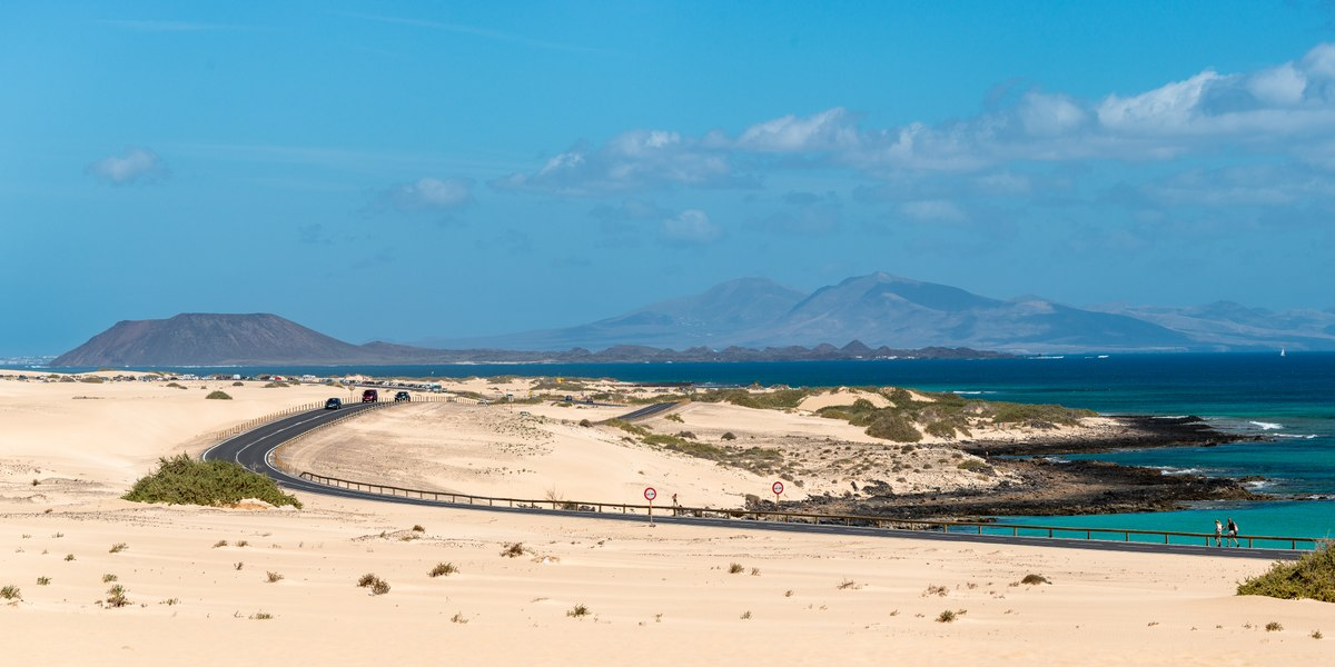 Fuerteventura desert and ocean