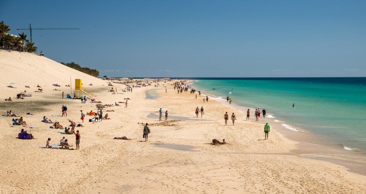 Touristic beach in Fuerteventura