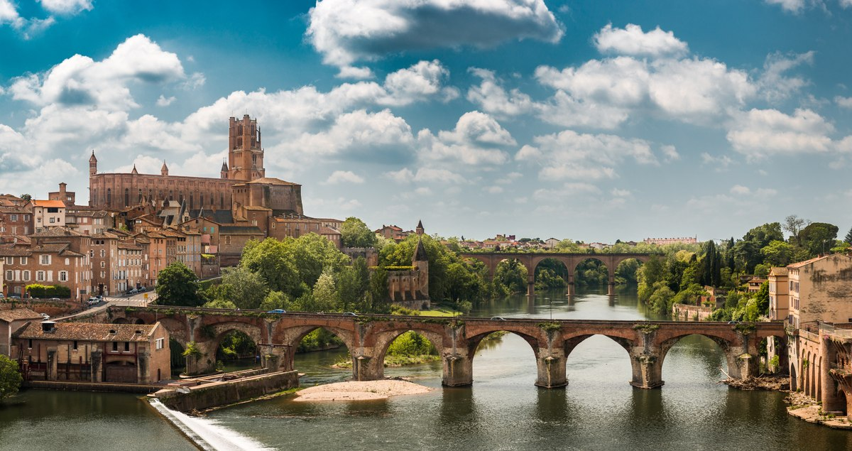 Albi Bridge and Cathedral