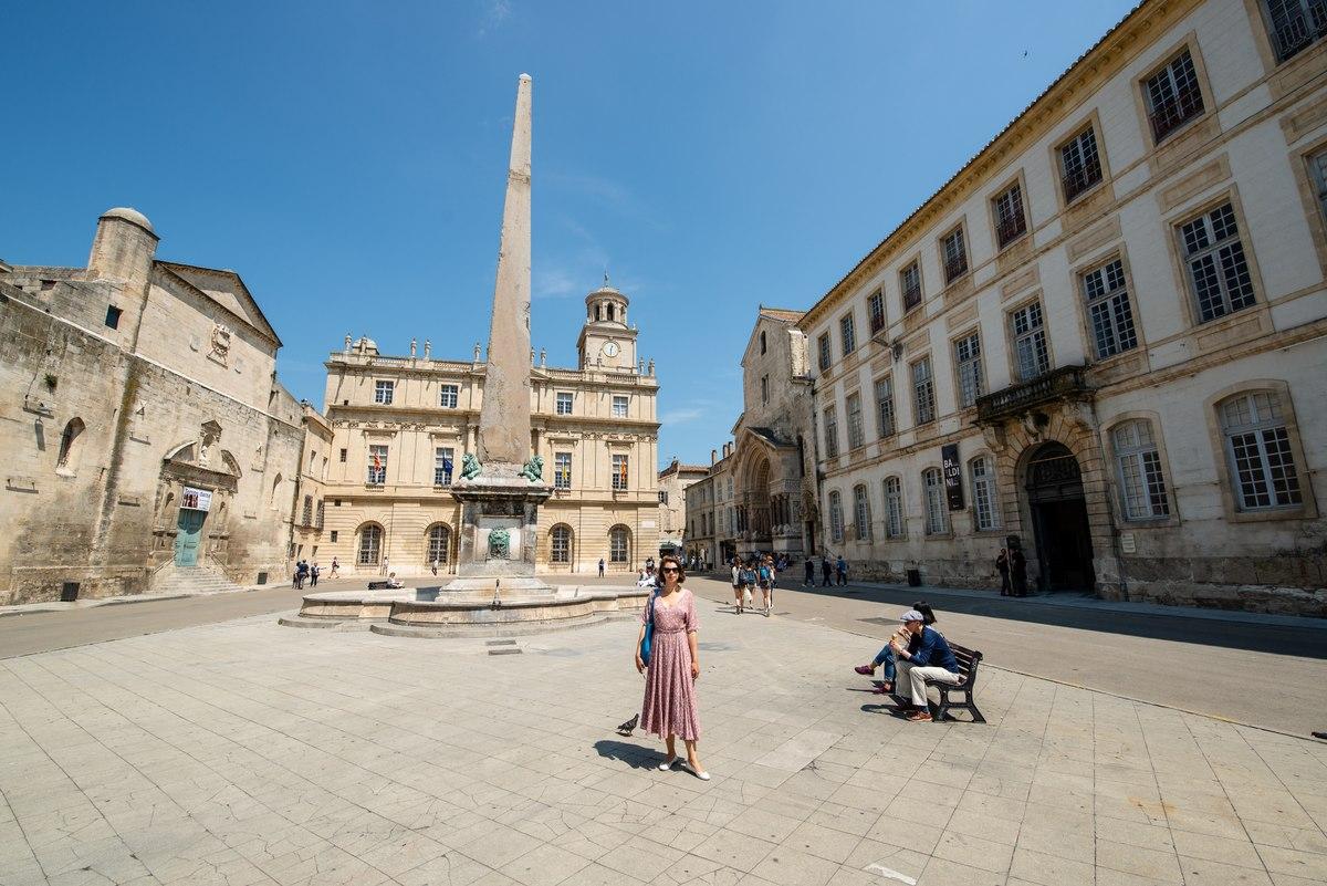 Arles Square with Obelisk