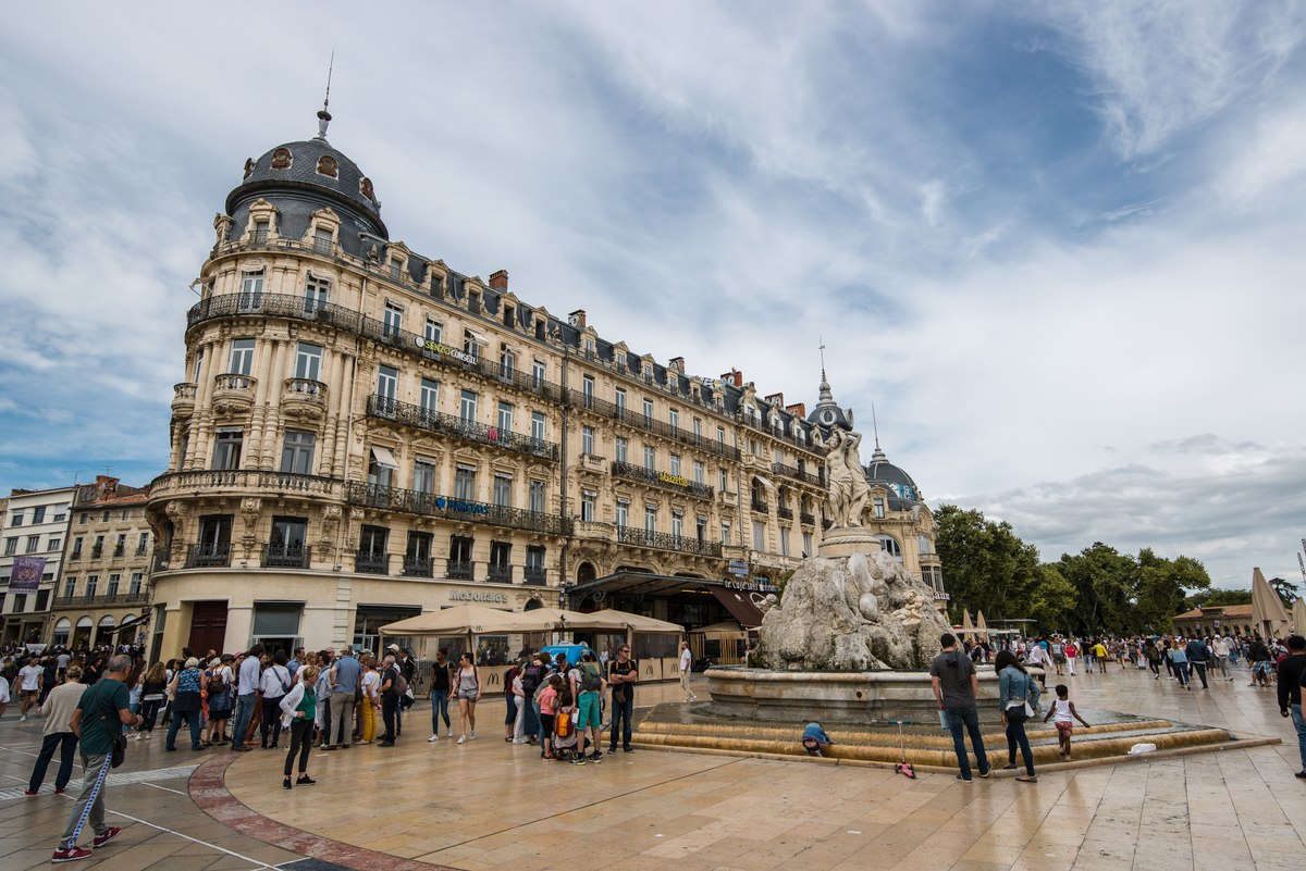 Square in Montpellier