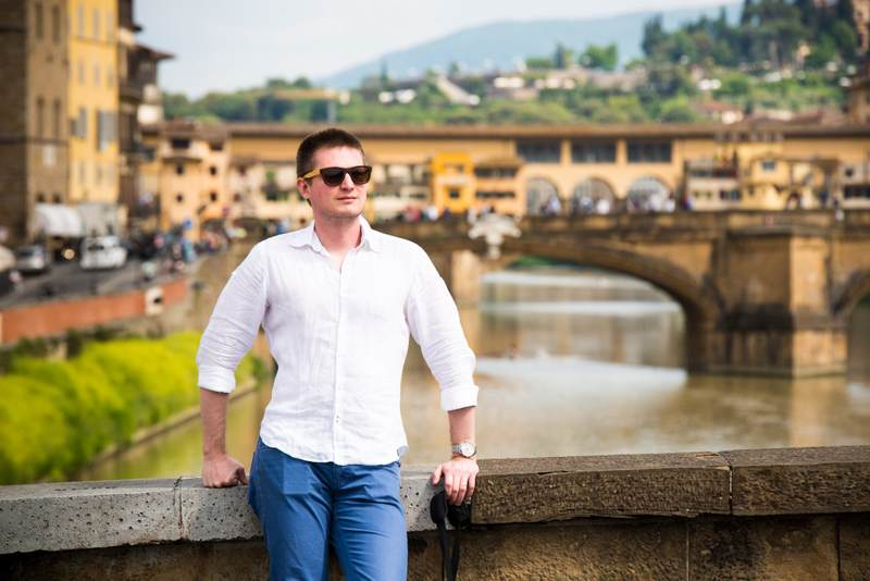 Portrait at the Ponte Santa Trinita, Florence