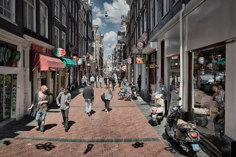 Amsterdam shopping street