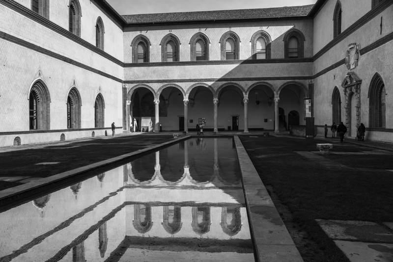 Sforza Castle arches, Milan