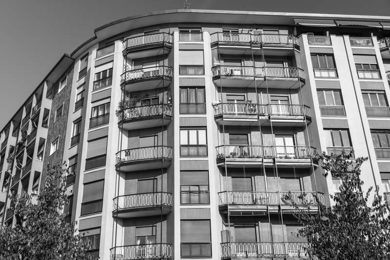 Milan building facade