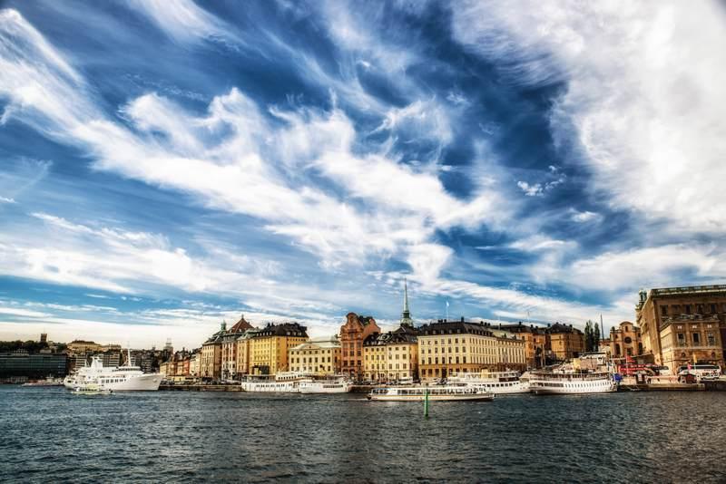 Stockholm wide seascape