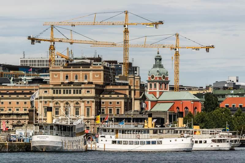 Cranes in Stockholm