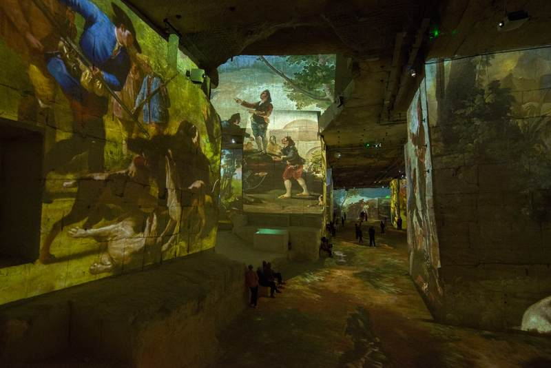 Les Baux-de-Provence laser projection