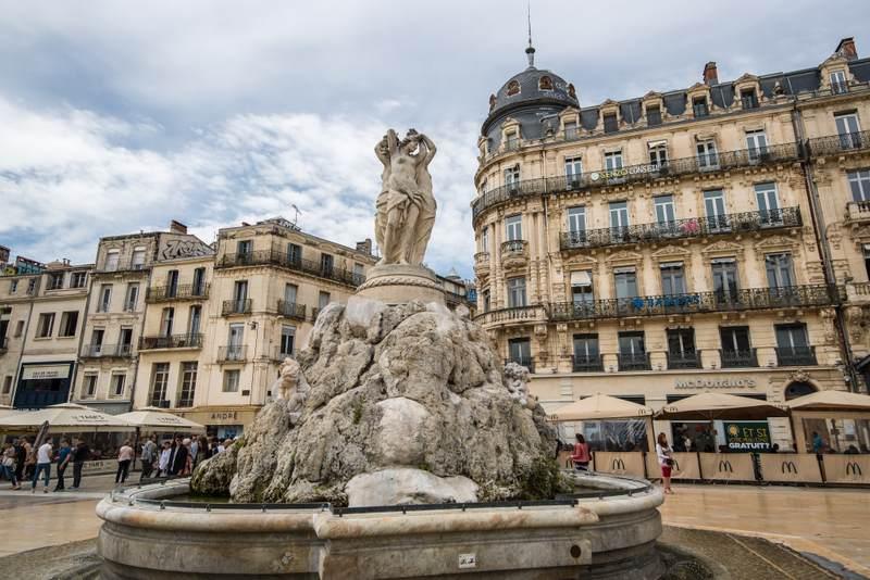 Statue in Montpellier