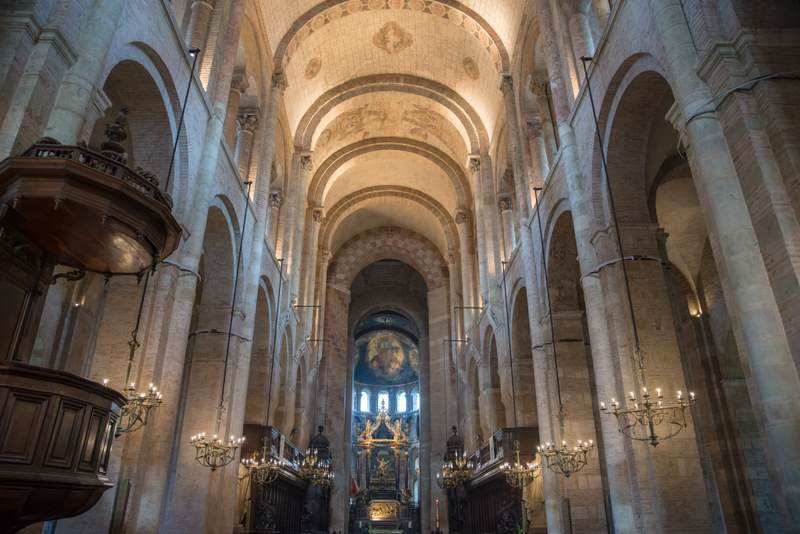 Inside the Toulouse Cathedral
